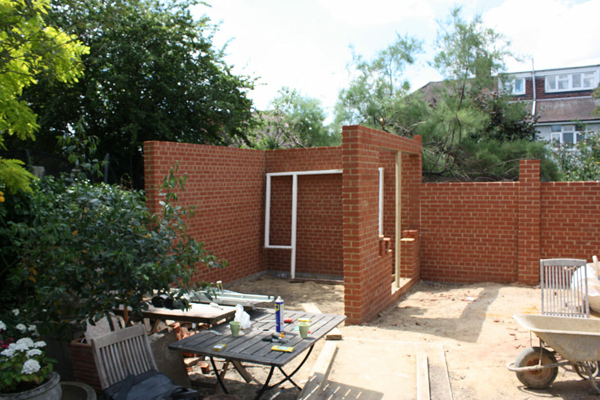 Brick wall construction