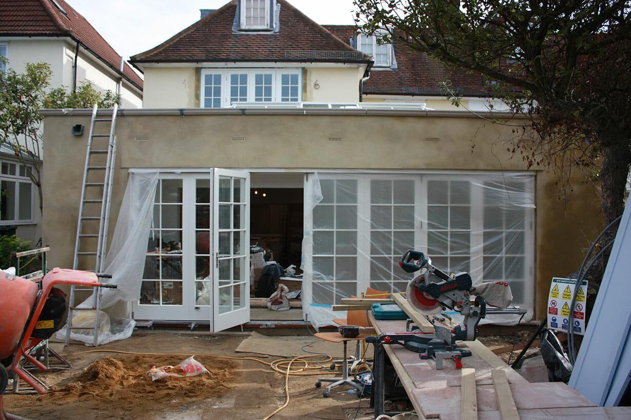 Installation of patio doors