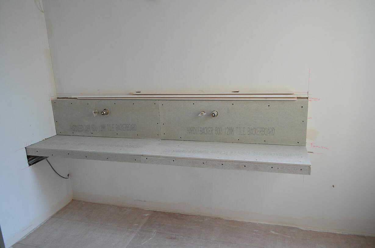 Construction of sit in shower